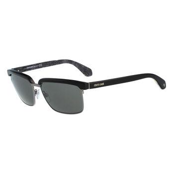 Roberto Cavalli 眉框復古太陽眼鏡(黑色)