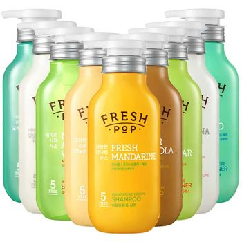李聖經代言 韓國 FRESH POP 果汁洗髮精/潤髮乳(500ml)x4入