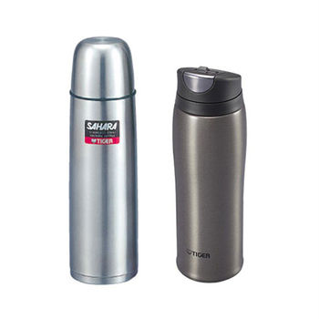 【TIGER虎牌】不鏽鋼真空保溫瓶 MSC-B050+MCB-H048