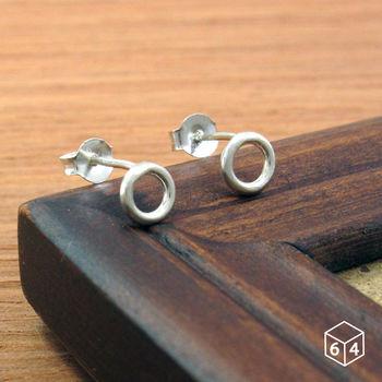 ART64 圓圈耳環 圓線甜甜圈 耳環 純銀圓形耳環