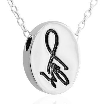 ART64 訂製姓名項鍊 橢圓 純銀項鍊 可愛字牌
