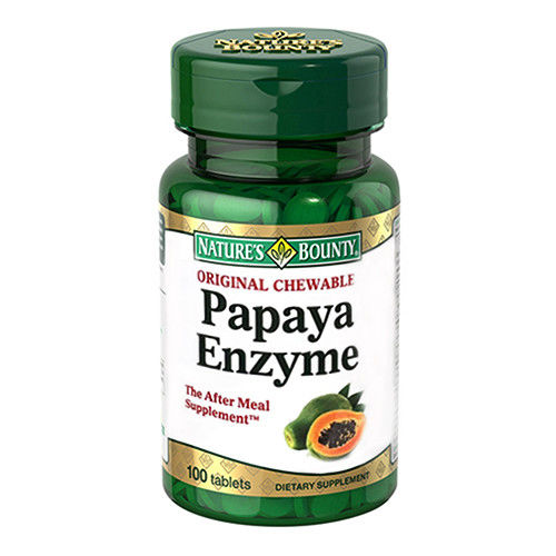 美國原裝原瓶進口 自然之寶 咀嚼木瓜酵素錠4入