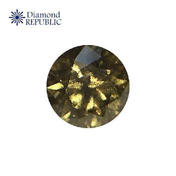 【鑽石共和國】GIA圓形深綠黃咖啡彩鑽 0.13克拉 Fancy Dark Greenish Yellow-Brown