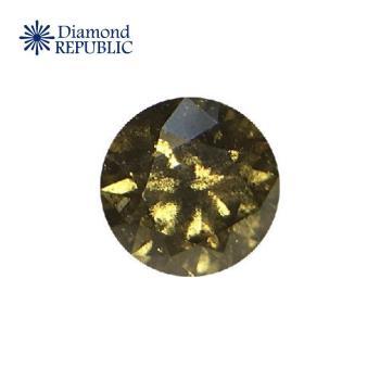 【鑽石共和國】GIA圓形深灰黃綠彩鑽 0.10克拉 Fancy Dark Gray-Yellowish Green