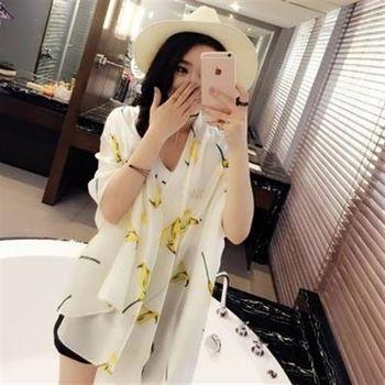 【米蘭精品】絲巾雪紡披肩大方優雅花朵印花3色73hw4