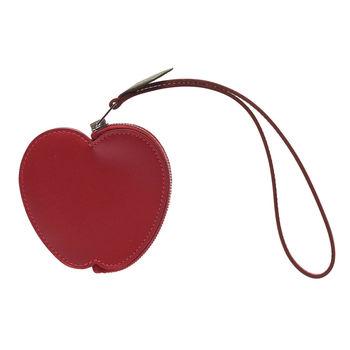 HERMES Tutti Frutti系列蘋果造型牛皮掛腕零錢包(紅色)