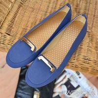 ~TW Shoes~素色麂皮金飾低跟包鞋~K110B3160~