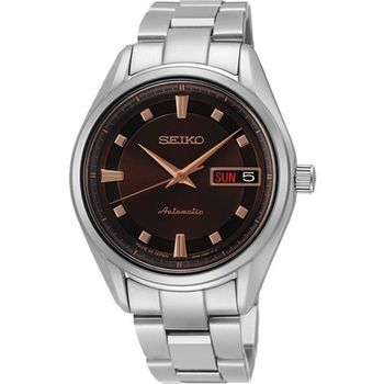 SEIKO Presage 4R36 都會時尚機械女錶-咖啡/35mm 4R36-03C0C(SRP895J1)