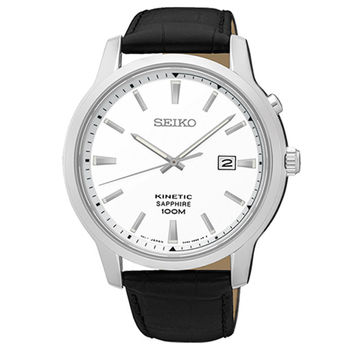 【SEIKO 精工】KINETIC 簡約生活人動電能皮帶腕錶(4mm/5M82-0AX0L)