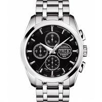 TISSOT 天梭 建構師三眼計時機械腕錶~黑 43mm T0356141105101
