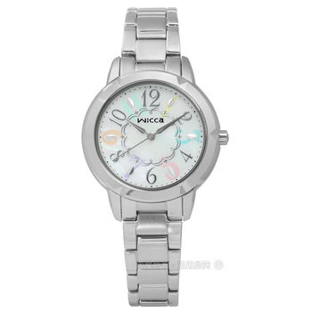 CITIZEN 星辰表 WICCA / BT2-718-11 / 花漾圓舞曲白蝶貝不鏽鋼手錶 銀色 32mm