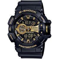 G ^#45 SHOCK 超 大錶徑GA ^#45 400系列腕錶 ^#45 金X黑 ^#
