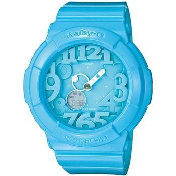 BABY-G BGA-130霓虹多彩光亮系列女錶-藍