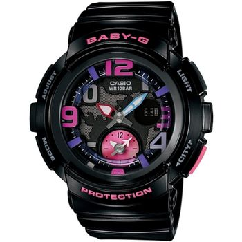 BABY-G BGA-190海灘旅行系列女錶-黑