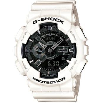 G-SHOCK GA-110GW系列腕錶-黑/白