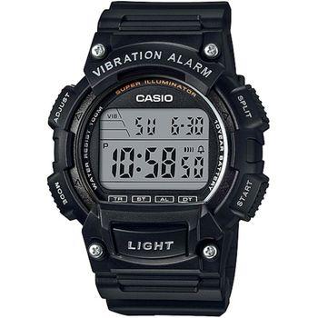 CASIO 人氣商品運動休閒腕錶(黑)_W-736H-1A