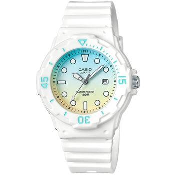 CASIO 魅力潛水風格型女腕錶(藍黃漸層)_LRW-200H-2E2