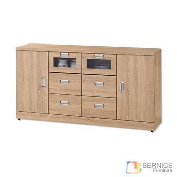 Bernice-維克托5.3尺碗盤收納餐櫃(下座)