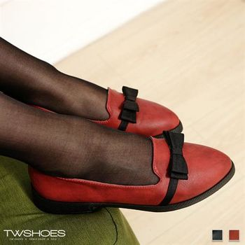 【TW Shoes】素面蝴蝶結尖頭乳膠低跟尖頭鞋【K120B3023】