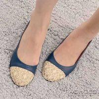 ~TW Shoes~拼接蕾絲花漾低跟包鞋~K110B3344~