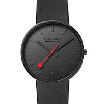 MONDAINE 瑞士國鐵Giant大錶面限量腕錶/42mm-純黑 (660864)
