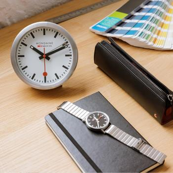 MONDAINE 瑞士國鐵兩用鬧鐘/12.5cm (99716)