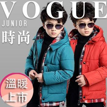 【LANNI藍尼】兒童英倫加厚防風保暖外套