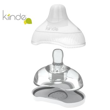 GMP BABY美國Kiinde Twist 奶瓶轉接殼專用奶嘴附收納盒 快速 12+月(二入) KD009