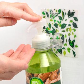 日本MAKINOU 隱形無痕貼系列-沐浴瓶罐掛鉤(2入)
