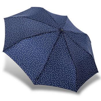 rainstory雨傘-藍白點點抗UV雙人自動傘
