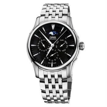 ORIS Artelier 藝術家月相盈虧腕錶-黑x銀/40.5mm 0158276894054-0782177