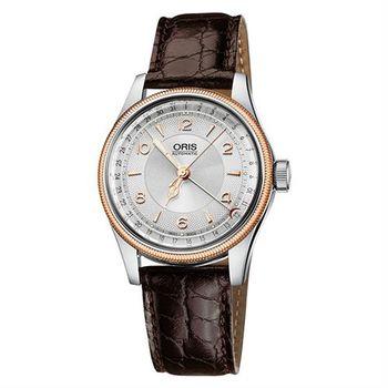 Oris Big Crown Original 日期機械腕錶-銀x玫瑰金框/40mm 0175476964361-0752052