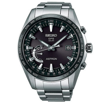 SEIKO 精工 ASTRON GPS 衛星太陽能時尚電波腕錶/45mm/8X22-0AG0D