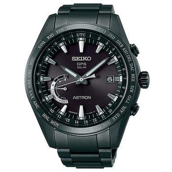 SEIKO 精工 ASTRON GPS 黑色風暴衛星太陽能電波腕錶/45mm/8X22-0AG0SD