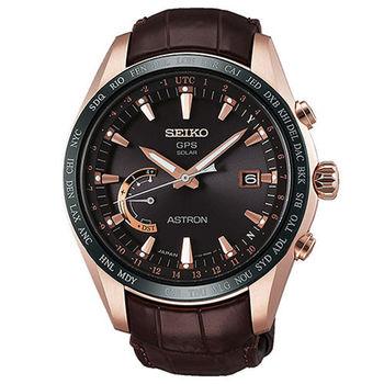 SEIKO 精工 ASTRON GPS 鈦金屬衛星太陽能電波腕錶/45mm/8X22-0AG0P