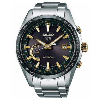 SEIKO 精工 ASTRON 鈦金屬GPS系列太陽能時尚腕錶/44.8mm/8X22-0AG0K (SEIKO Astron贈好禮)