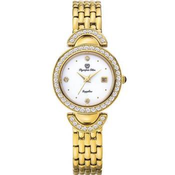 Olympia Star 奧林比亞之星-奧林比亞之星 晶燦時光時尚腕錶-金 28025DLK