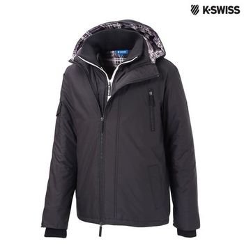 K-Swiss Outdoor Quilted Jacket鋪棉外套-男-黑