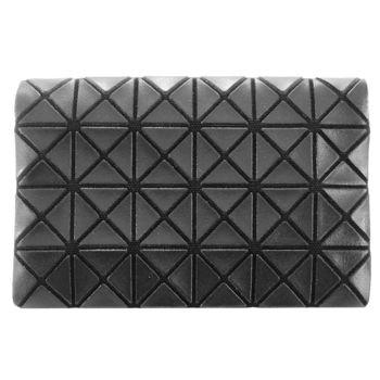 三宅一生 BAOBAO幾何方格4x6萬用卡片夾(亮面黑)