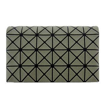 三宅一生 BAOBAO幾何方格4x6萬用卡片夾(霧面軍綠)