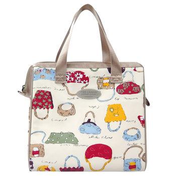卡蘿保溫保冷餐袋(L)-繽紛購物