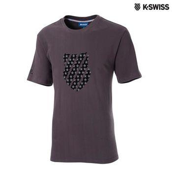 K-Swiss Graphic Tee印花短T恤-男-深灰