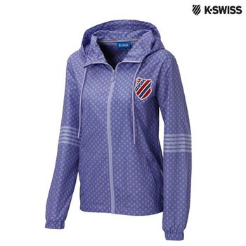 K-Swiss Star Print Windbreaker風衣外套-女-紫