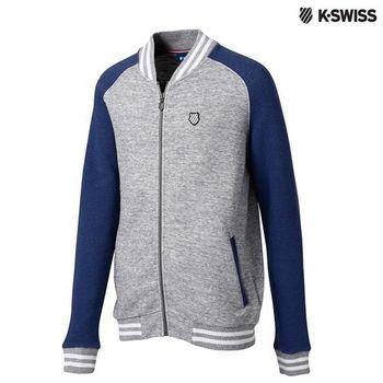 K-Swiss Ottoman FZ Jacket休閒外套-男-炭灰