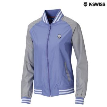 K-Swiss Heather Print Windbreaker風衣外套-女-紫
