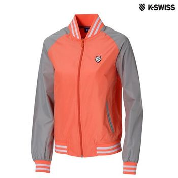 K-Swiss Heather Print Windbreaker風衣外套-女-橘