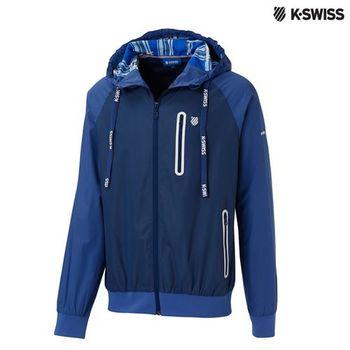 K-Swiss Windbreaker風衣外套-男-單寧藍