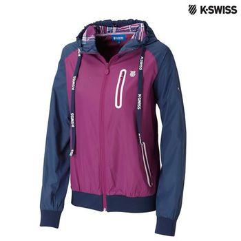K-Swiss Windbreaker風衣外套-女-紫
