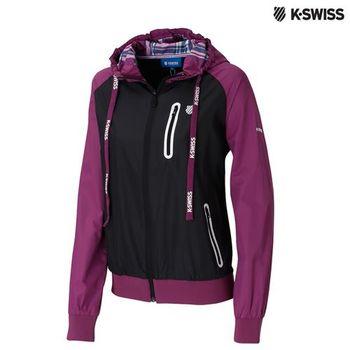 K-Swiss Windbreaker風衣外套-女-黑