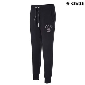 K-Swiss Sweatpant棉質休閒長褲-女-黑